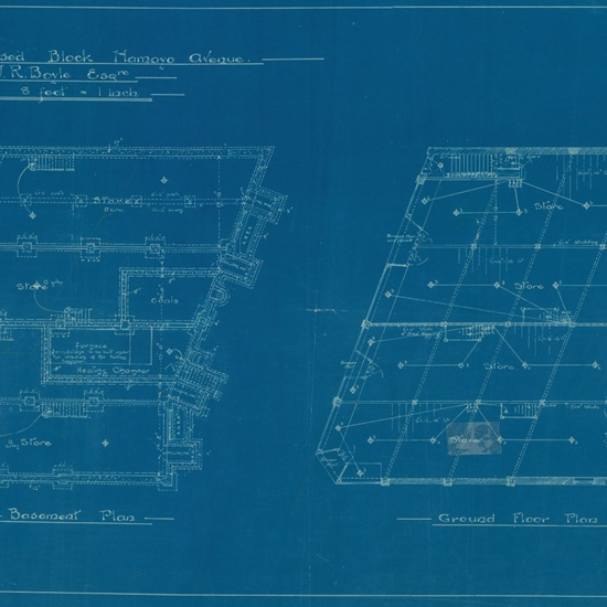 Lambton Block- blueprints, 1914