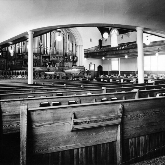 First Presbyterian Church, 1964, interior view