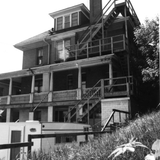 John Stocks Residence, 1972, rear elevation